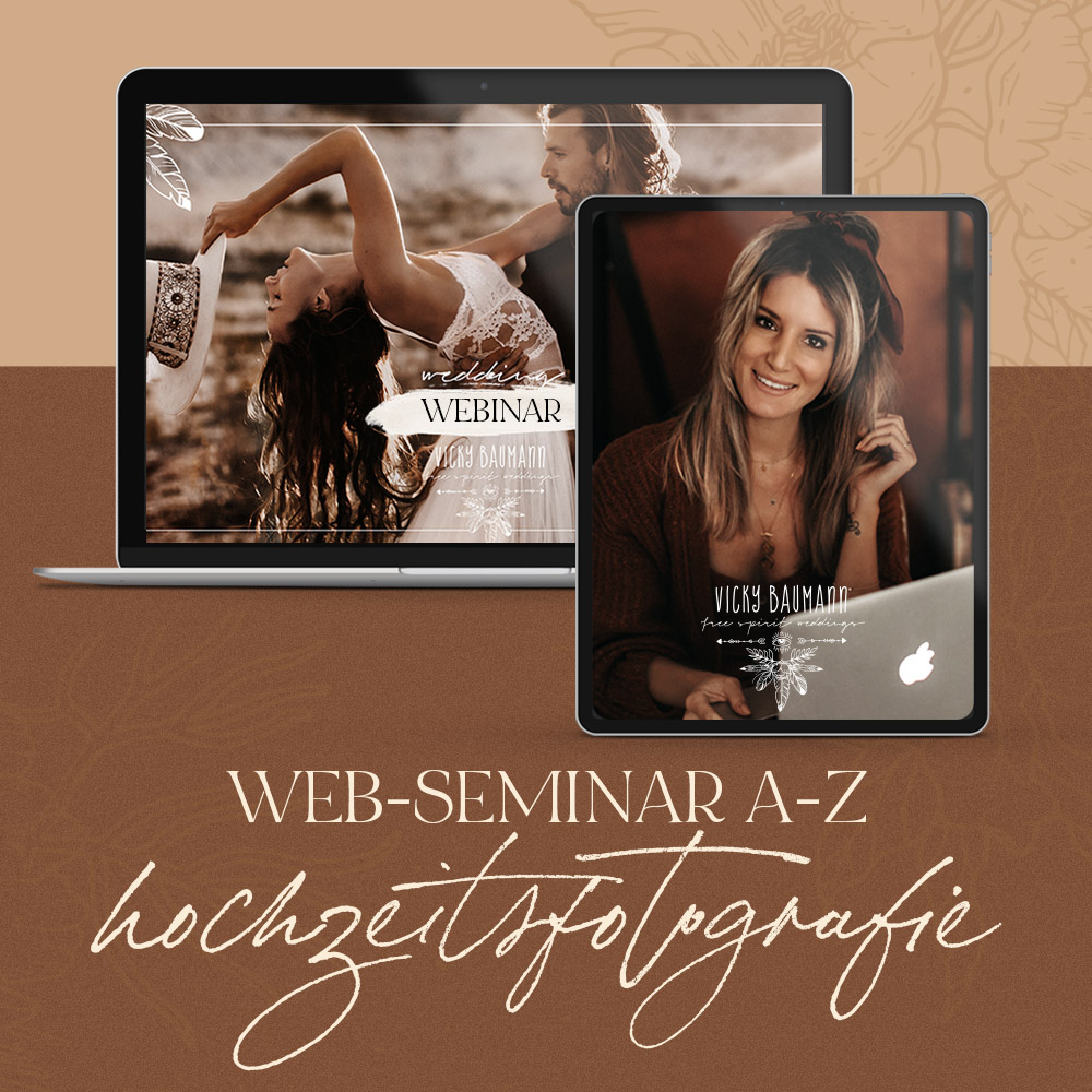 """12.12.20 WEB-SEMINAR """"Hochzeitsfotografie A bis Z"""" (LIVE)"""